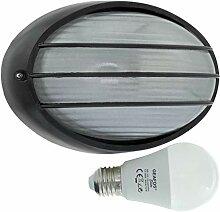 Havel-LED 10W - E27 - Aluminium -Alu wandstrahler