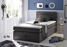 HAWAII 3 Boxspring 120 Soro 97 anthrazit
