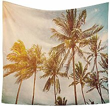 Hawaii Palme Wandteppiche Sommer Tapestry