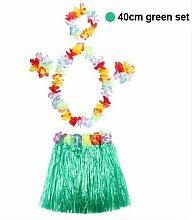 Hawaii-Tanz Hula Rock Garland Erwachsener Kind Hula-Rock-Kleid-Kranz-Zubehör 5-teilig Blumenkopfschmuck Haar Hals Armband