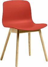 Hay AAC12 Stuhl Mit Transparent Gelacktem Untergestell Warm Red (b) 51 X (t) 51 X (h) 78 Cm