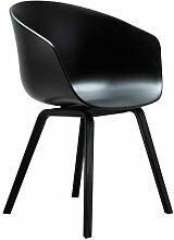 Hay AAC22 Stuhl Mit Schwarzem Untergestell