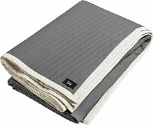 Hay Bias Quilt Bettüberwurf Charcoal 245x195