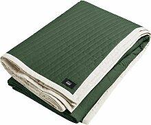 Hay Bias Quilt Bettüberwurf Forest Green 245x195