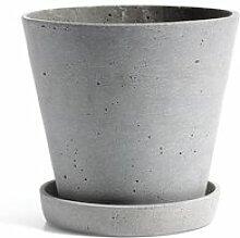 HAY - Blumentopf mit Untersetzer L, grau