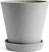 HAY - Blumentopf mit Untersetzer XL, grau