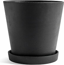 Hay - Blumentopf mit Untersetzer XXL, schwarz
