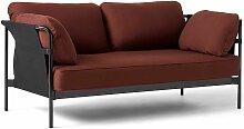 Hay Can Sofa 2-Sitzer Frame Schwarz Steelcut 655