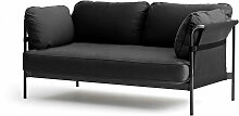 Hay - Can Sofa, 2-Sitzer, grau / Canvas grau