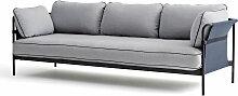 Hay - Can Sofa, 3-Sitzer, schwarz / Canvas blau /