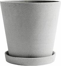 Hay Flowerpot XXL Blumentopf Grau (h) 24.5 X (Ø)