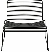HAY Hee Lounge Chair - black Hee Welling, Stahl