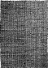 Hay - Moiré Kelim Teppich 140 x 200 cm, schwarz