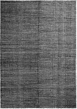 Hay - Moiré Kelim Teppich 170 x 240 cm, schwarz