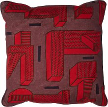 Hay Printed Cushion In The Grass Kissen Rot (l) 50 X (b) 50 Cm