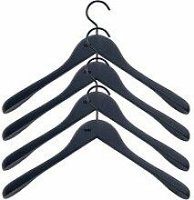 HAY - Soft Coat Kleiderbügel (4er-Set), schwarz