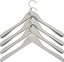 HAY Soft Coat Kleiderbügel-Set breit, grau 44x27x4cm 4 Stück