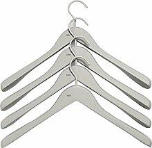 HAY Soft Coat Kleiderbügel-Set Breit, Grau