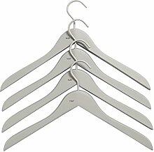 HAY Soft Coat Kleiderbügel-Set schmal, grau 44x27x1cm 4 Stück
