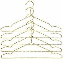 HAY Twisted Kleiderbügel 5er-Set, messing eloxiert 42x20cm