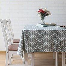 Hazelsha Tischdecken Leinen Rechteckige Tischdecke