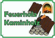 HB-Druck Verkaufsschild Schild Feuerholz A2