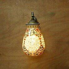 HBDLKF Wandleuchte Vintage Keramik Wandleuchten