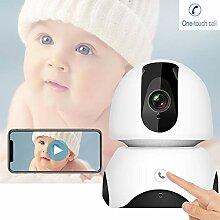 HBIAO Babyphone Mit Kamera, 2MP FHD