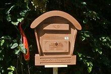 HBK-RD-DUNKELBRAUN Holz-Briefkasten, Briefkasten