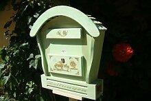 HBK-RD-MOOSGRÜN Briefkasten aus Holz moosgrün