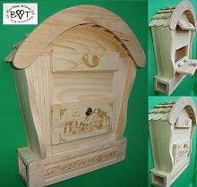 HBK-RD-NATUR Holz-Briefkasten, Briefkasten groß