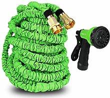 HBlife flexiSchlauch Gartenschlauch Wasserschlauch Gartenteich Gartenbewässerung mit doppelter Magic expandble Gartenschlauch Ventil Splitter mit 8 funktionelle Sprühpistole High Druck(30m)