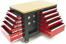 HBM fahrbare Werkbank mit Schubladen, 10