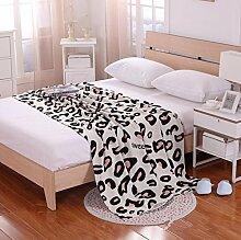 hbzll sofa-carpet Nap Wolle Decken/Teppiche/Gobelin/Teppich/Klimaanlage/Baumwolle gestrickt Decke leopard