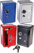HC-Handel 911574 Metall Spardose Tresor Safe