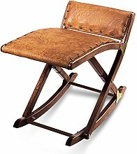 HC-Handel 936053 Beinschaukel aus Massivholz gepolstert 49 x 41 cm antikbraun