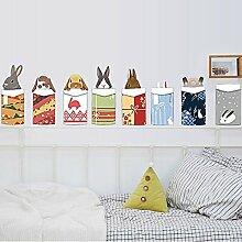 HCCY Die amerikanische Gemälde schmücken die Weihnachten Geschäfte niedlichen kleinen Häschen Wohnzimmer Schlafzimmer Bett für Kinder Poster Aufkleber