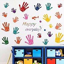 HCCY Entfernen und an die Wand Farbe palm Kindergarten Schlafzimmer cartoon Wandaufkleber Kinderzimmer wand Poster 60*90 cm befestigen, Aufkleber Bild Farbe