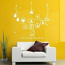 HCCY Kreative continental Bilderrahmen Lampe selbstklebende Wandhalterung Sofa im Wohnzimmer an der Wand Dekor home Fenster Glas Aufkleber, weiß, 120*125 cm