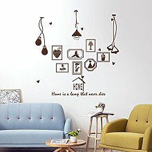 HCCY Kreative continental Bilderrahmen Lampe selbstklebende Wandhalterung Sofa im Wohnzimmer an der Wand Dekor home Fenster Glas Aufkleber, braun, 180*186 cm
