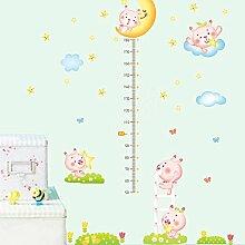 HCCY Sie können die Höhe - Kinderzimmer Wandaufkleber Karikatur Aufkleber eingerichteten Schlafzimmer Tapete Baby Nursery School Klassenzimmer Poster 160*160 cm entfernen