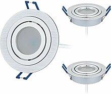 HCFEI 3er Set LED Einbaustrahler dimmbar