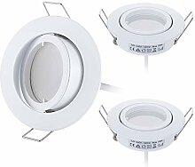 HCFEI 3er set LED Einbaustrahler Dimmbar Weiß