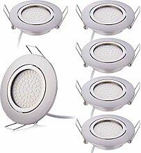 HCFEI 6er Set Flaches Design LED Einbaustrahler
