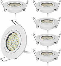 HCFEI 6er set LED 4W Slim Spot Einbaustrahler in