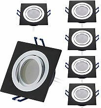 HCFEI 6er Set LED Einbaustrahler dimmbar