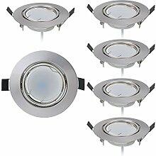 HCFEI 6er set LED Einbaustrahler dimmbar flach 5W