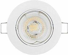 HCFEI 6er Set LED Einbaustrahler Schwenkbar Ultra