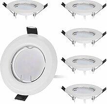 HCFEI Ultra flach LED Einbaustrahler in weiß mit