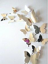 HCFKJ 2017 Mode Gemusterte Schmetterlinge Wandsticker Wandaufkleber Wandtattoo Kinderzimmer Dekoration für Jungen und Mädchen Zimmer, Wohnzimmer, Büro oder Kinderzimmer